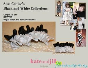 PITA JEPIT Royal Black And White Rimple