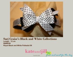 BANDO Royal Black And White Polkadot