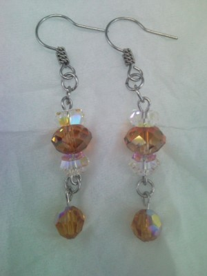 Anting Swarovski Topaz (02)