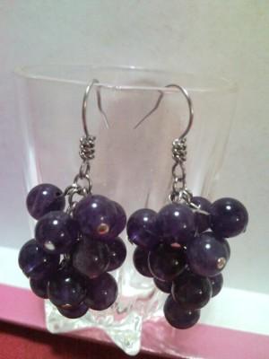 Anting Anggur Amethyst Tua