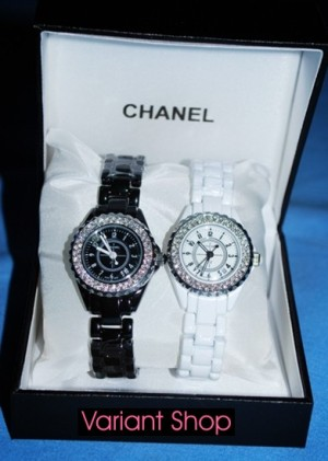 Channel J-12 Full Diamond Bezel