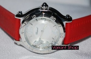 Chopard Fish Swarovski Inside (Red-Silver)