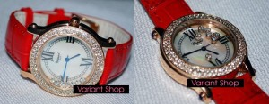 Chopard Heart Swarovski Leather Red
