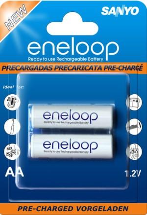 [Baterai Rechargeable] Sanyo Eneloop AA (2 Buah) 2000 MAH