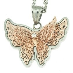 Carved Gold Butterfly