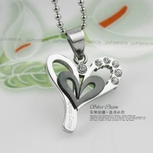 Kalung Silver Black Love