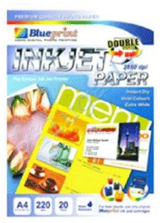 Blueprint Double Sided Inkjet Paper (BP-DSIPA4220) - A4, 20 Sheet, 220gsm, Cast Coating, Extra White