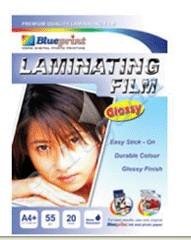 Blueprint Laminating Glossy Film (BP-GFA455)- A4, 20 Sheet, 55um, Laminating, Glossy