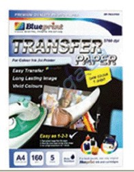 Blueprint Transfer Paper (BP-TKA4160) - A4, 5 Sheet, 160 Gsm, Cast Coating, Matte, Water Resistant