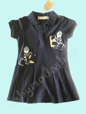 Navy Tennis Polo Dress