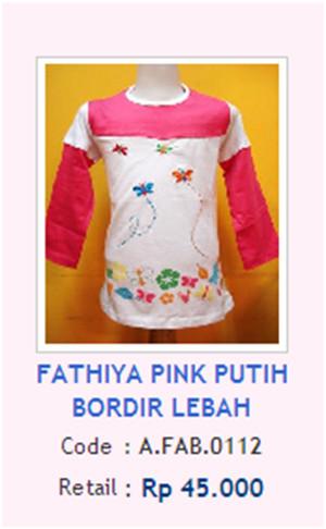 FATHIYA PINK PUTIH BORDIR LEBAH