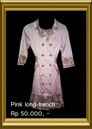 Pink Long Trench