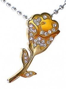 Kalung Gold Diamond Rose