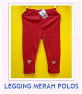 LEGGING MERAH POLOS
