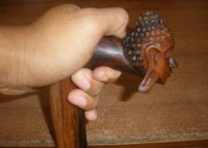 Tongkat Ber- Kepala Buddha