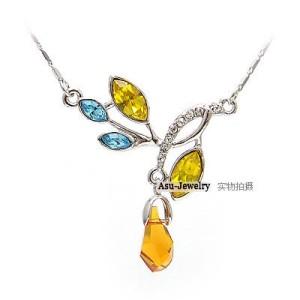 Swarovski Crystal Necklace - Branches Water Element