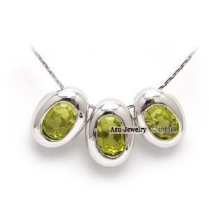 Swarovski Crystal Necklace - Three Eggs Elements Kuning