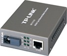 TP-LINK MC111CS: 10/100M RJ45 to 100M single-mode SC, Full Duplex, Tx:1550nm, Rx:1310nm, Up to 20Km, Switching power adap.