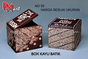 kotak kayu batik