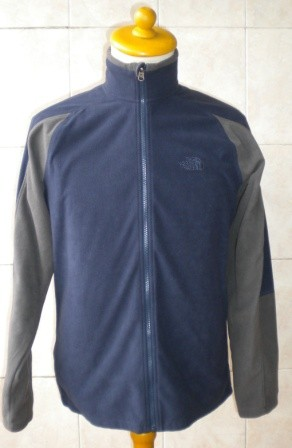 Jaket The North Face TKA 100 Full Zip Fleece, BLUE, 100% Original, NEW, SIZE M