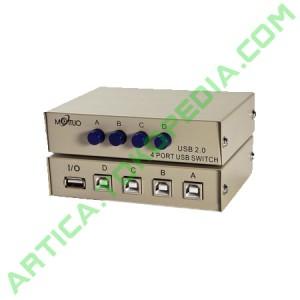 USB Manual Data Switch 4 Port