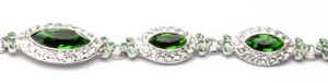 Swarovski Element Bracelet - Sparkling Green
