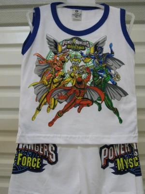 Lengan Buntung Anak Laki Power Rangers Blue Line