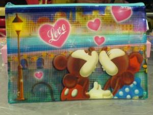 Kantung serbaguna transparan Mickey