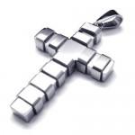 Kalung Silver Coil Cross