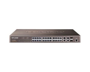 TL-SL5428E24+4G Gigabit Up-link Switch, 24 10/100M RJ45 ports, 2 10/100/1000M RJ45 ports, 2 SFP rack-mountable steel case