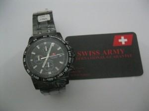 Jam Tangan Swiss Army 1121 Chrono Full Black Original
