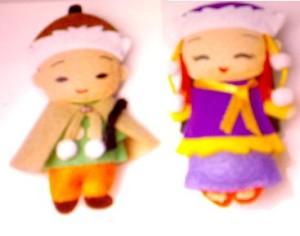 Boneka Berpasangan Flanel 3