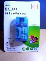 Card  Reader  Slot  Direct  Bytecc  4Slot  Blue  Color