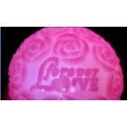 PINK BATTERY POWERED 7 - COLORS ROSE FLOWER BALL LED LIGHT
