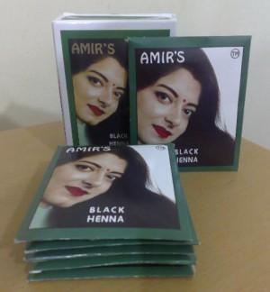 Amirs Henna Pewarna Rambut Hitam box 6 pcs
