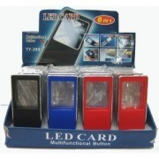 6 IN 1 LED CARD-MAGNIFIER LED TORCH LIGHT MONEY DETECTOR PEN PDA