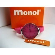PINK COLOR WATCH MONOL WATER RESISTANT STAINLESS STEEL BACK, SPORTY BERMUTU TRENDY & BERKUALITAS.