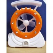 LAMPU BELAJAR + KIPAS ANGIN ( M 2000 ) ORANGE COLOR