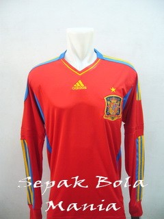 Jersey Spain Home LS Euro 2012