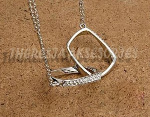 Silver rectangle necklaces