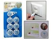 Pengaman Stop Kontak Listrik Untuk Bayi/Anak (Isi 6pcs+1kunci)