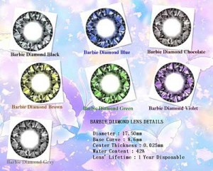 BARBIE DIAMOND 17.5 Mm FROM KOREA DENGAN BONUS (LENS CASE / AIR SOFT LENS DAN GIWANG IMPORT )