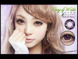 "MISS EYE ""FAIRY OF WATER"" FROM KOREA 17.8 MM DENGAN TAMBAHAN BONUS LENS CASE , AIR SOFT LENS , ANTING IMPORT"