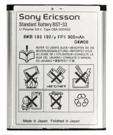 Baterei, Batere, Baterai Hp Sony Ericcson BST-33 Original 100%