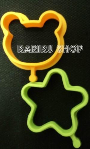 Paku2 Silicon Mold Small A ( Bear, Star )
