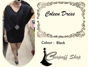 CODE : Coleen Dress Black