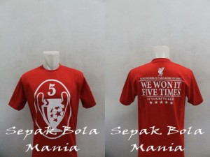 T-shirt Distro Liverpool 5UCL 001
