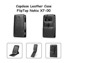 Capdase Leather Case Fliptop Nokia X7