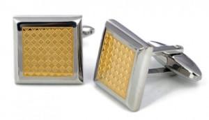 Cufflink Gold Square