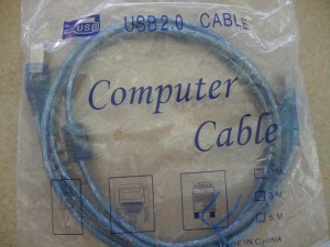 KABEL USB PRINTER TRANSPARAN 3 MTR